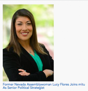 Former Nevada Assemblywoman Lucy Flores Joins mitu As Senior Political Strategist
